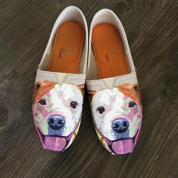 Pit Bull Dog Skechers Bobs Shoes Slip